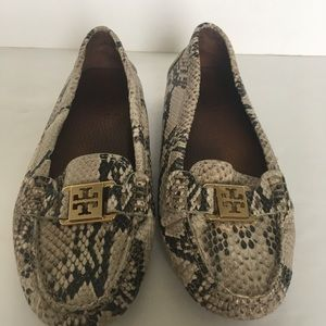 Tory Burch Snake Skin Loafers